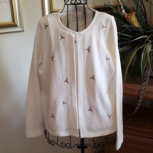 Liz Claiborne Lizsport brand Christmas sweater XL
